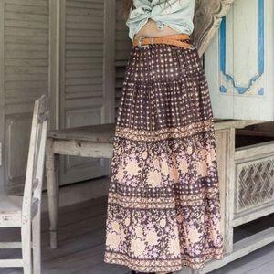 Spell Desert Rose Maxi Skirt
